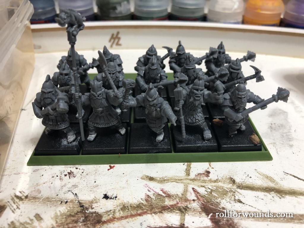 Oathmark dwarves on 20mm bases
