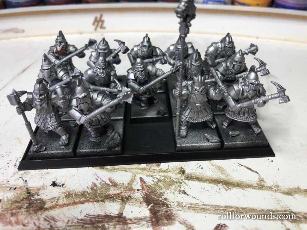 Oathmark heavy infantry primed silver