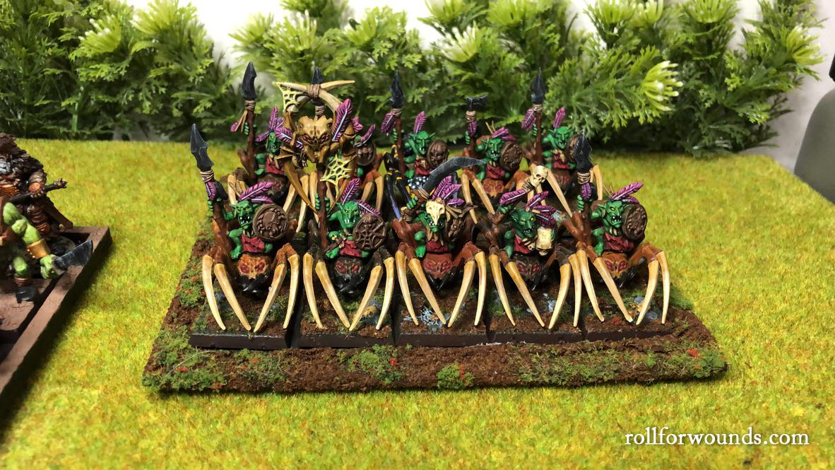Goblin Spider riders on movement tray