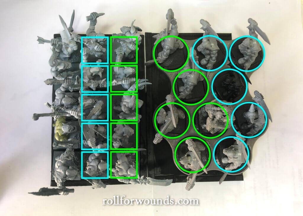 32mm vs 25mm movement trays