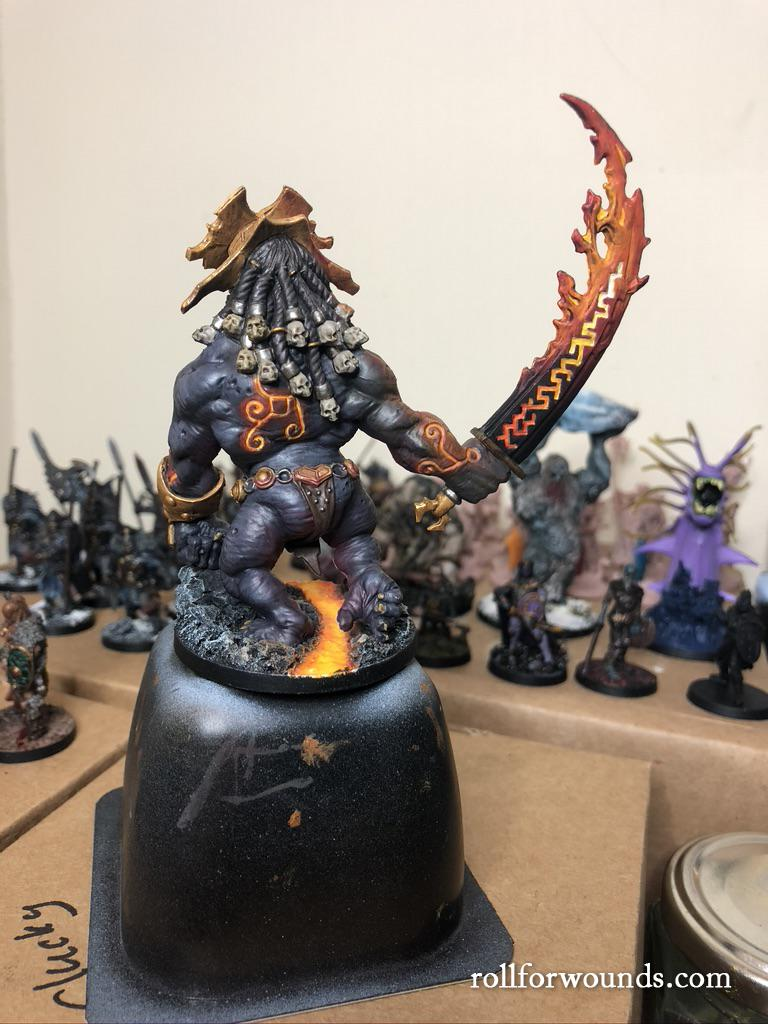 Blood Rage Fire Giant painted (back)