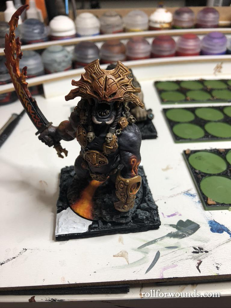 Blood Rage Fire Giant on square base