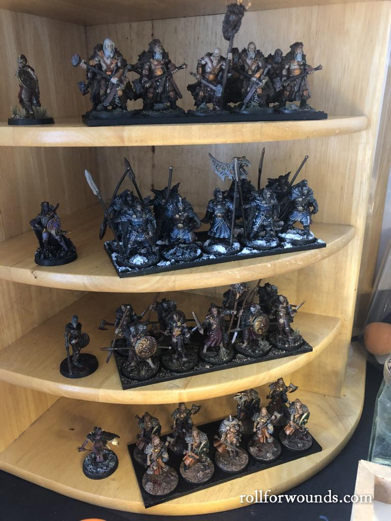 Blood Rage painted figurines