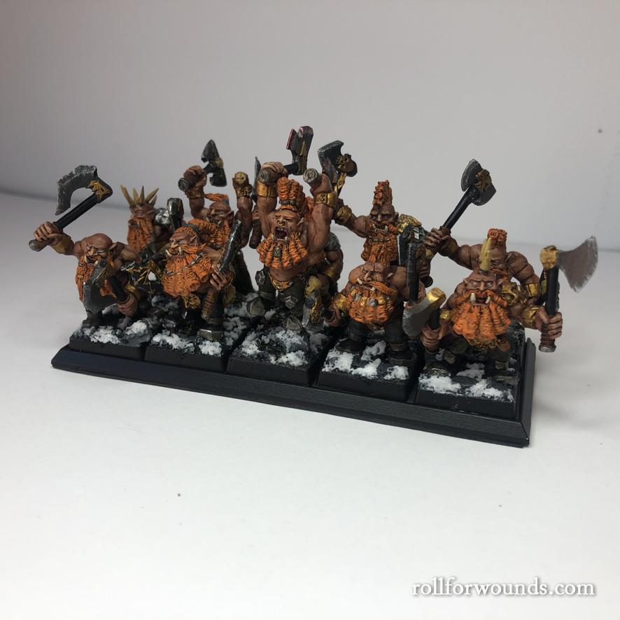 Russian Alternative Berserkers Dwarves painted