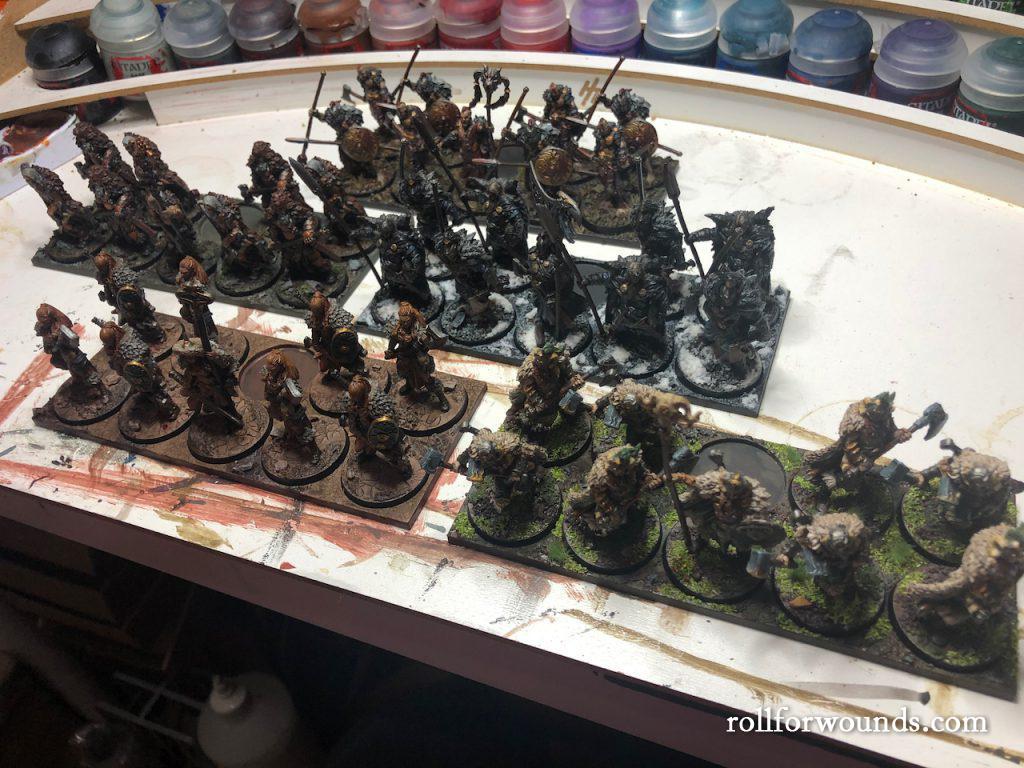Rebased circular army for Warhammer Fantasy