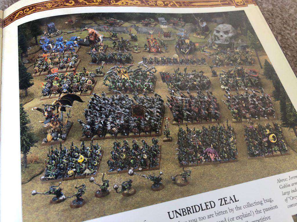 Warhammer Orcs & Goblins display army