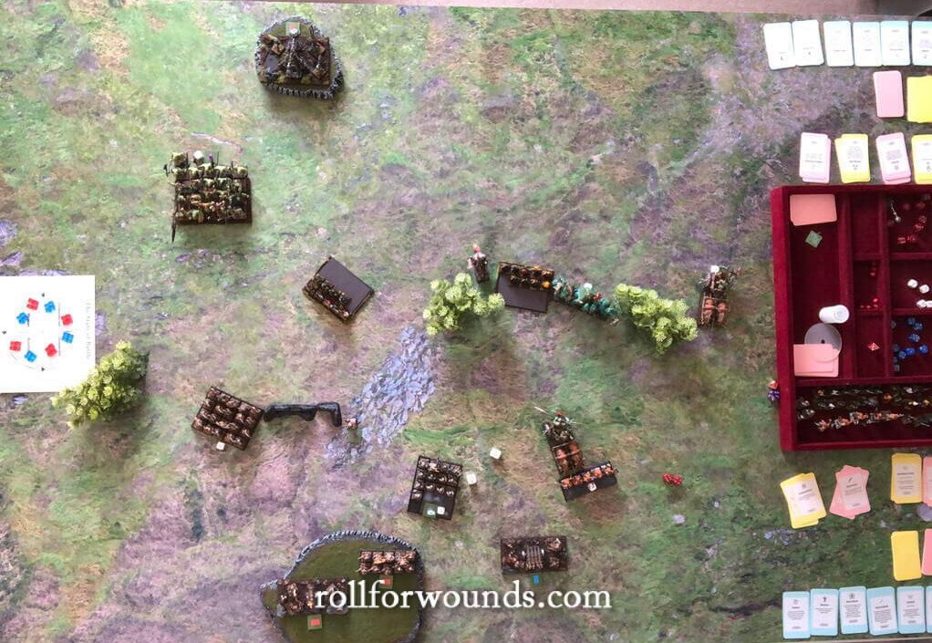 birds eye view of a battlefield