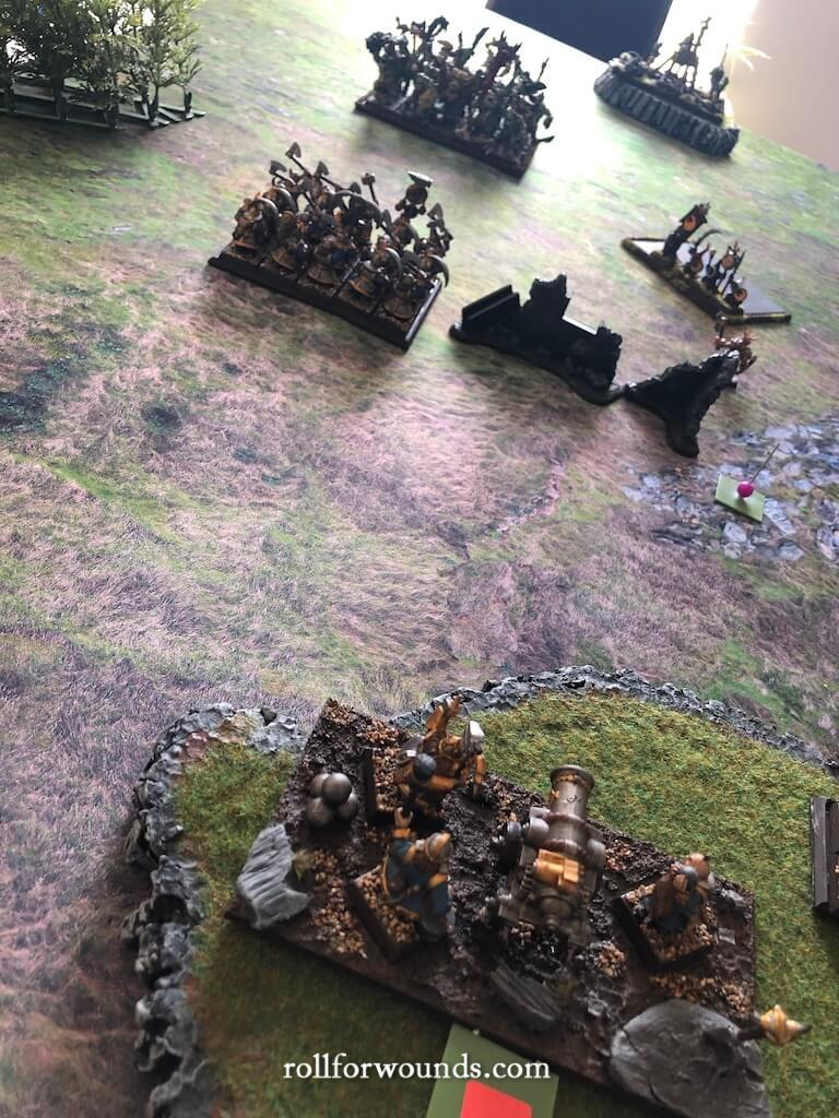 Dwarf cannon fire at range