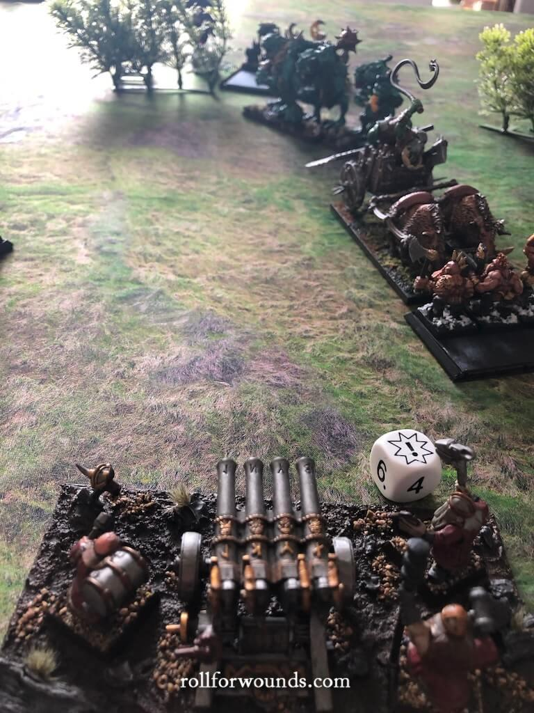 Dwarf organ gun misfires!