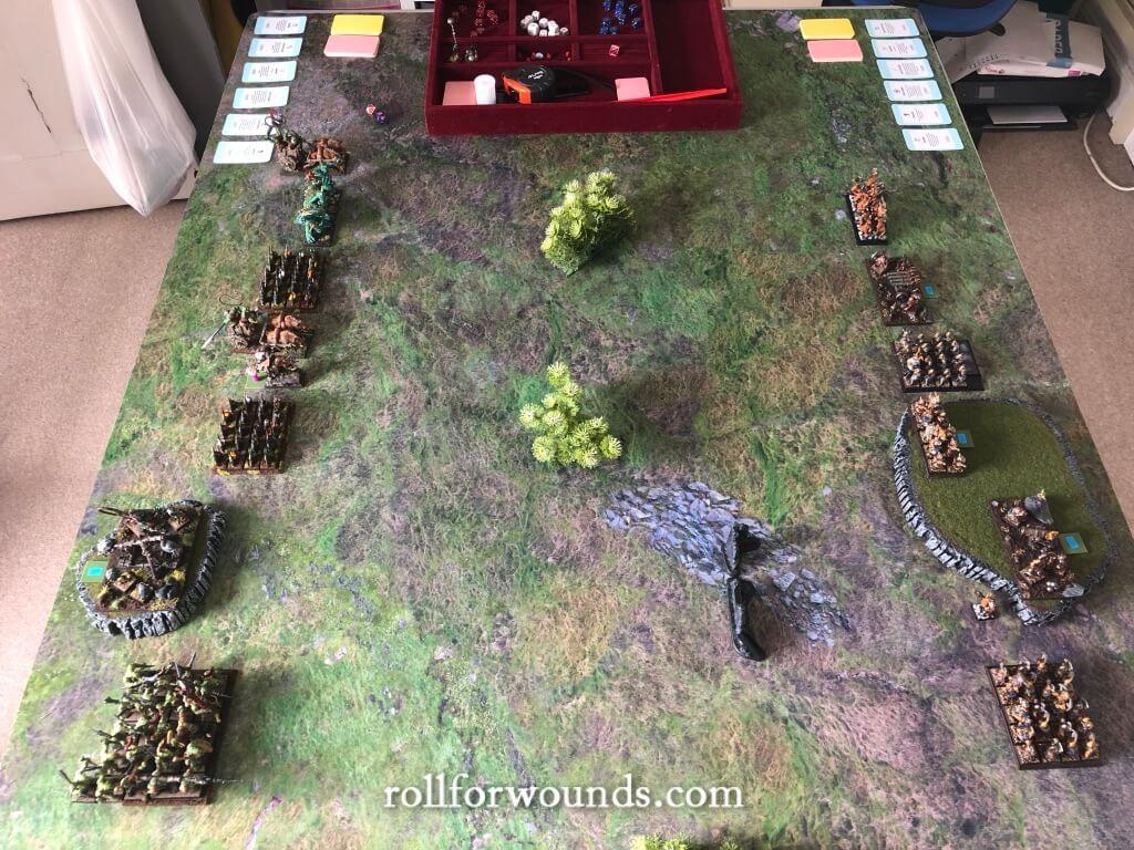 Warhammer Fantasy armies before deployment