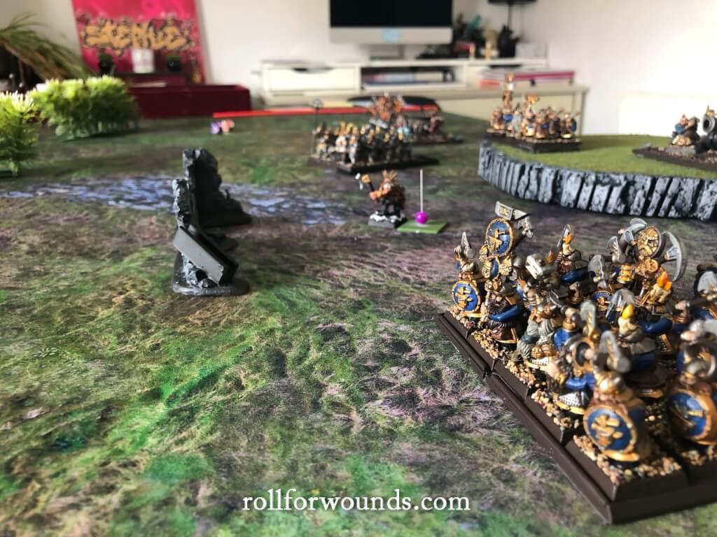 Dwarf army advances