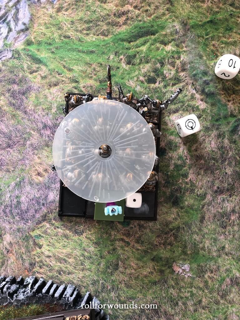 Warhammer Fantasy small stone thrower template